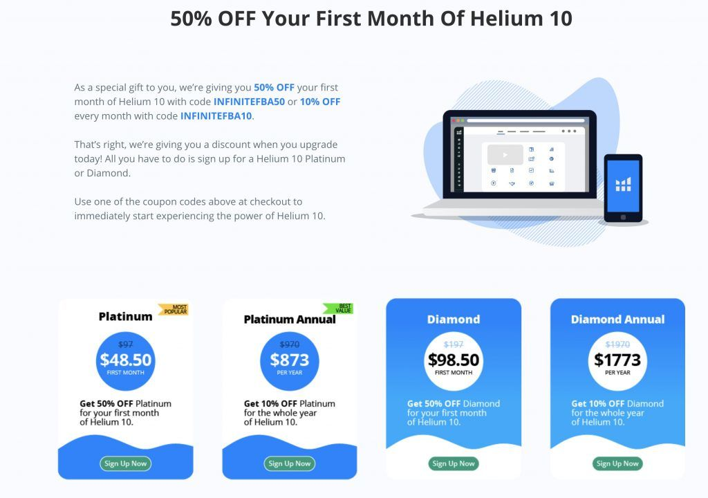 helium 10 coupon code to get 50 percent off