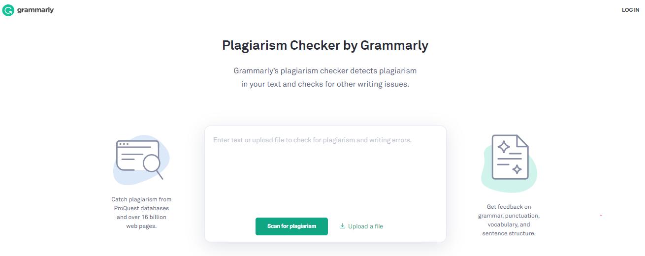 grammarly plagiarism checker