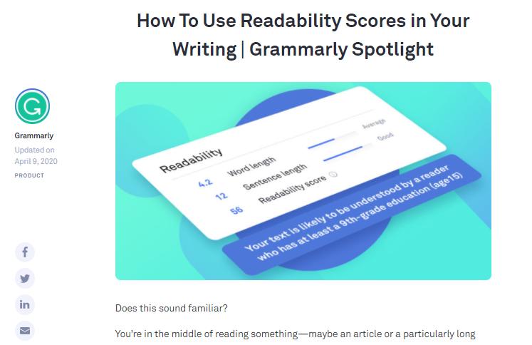 grammarly readability